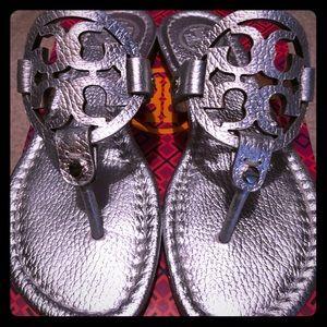 Tory Burch Miller Metallic Leather Sandal